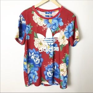 Adidas | Chita Floral Peony Trefoil Logo Tee M L